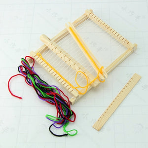 New Child DIY Wooden Handloom Developmental Toy Yarn Weaving Knitting Shuttle Loom