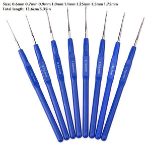 8Pcs/lot Aluminum Crochet Hooks Needles for Embroidery Weaveing Craft Yarn Hand Sewing Needlecrafts DIY Knitting Tools