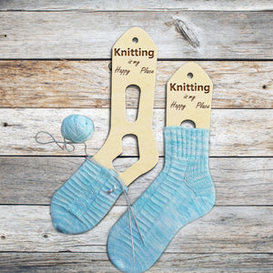 2pcs Wooden Wood Knitting Is My Happy Place Socks Forms Blockers Stretchers Sock Shapes Hand Knit Socks