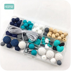 Baby Rattle Toy Can Chew Silicone Beads Crochet Beads