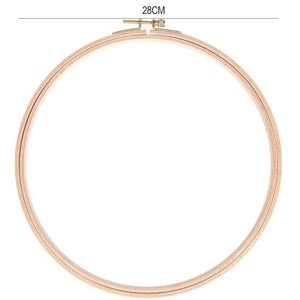 7.5 -28cm Embroidery Hoop Tool DIY Wooden Cross Stitch Frame Needlework Hoop Ring Hand Embroidery Tool Sewing Manual Tool