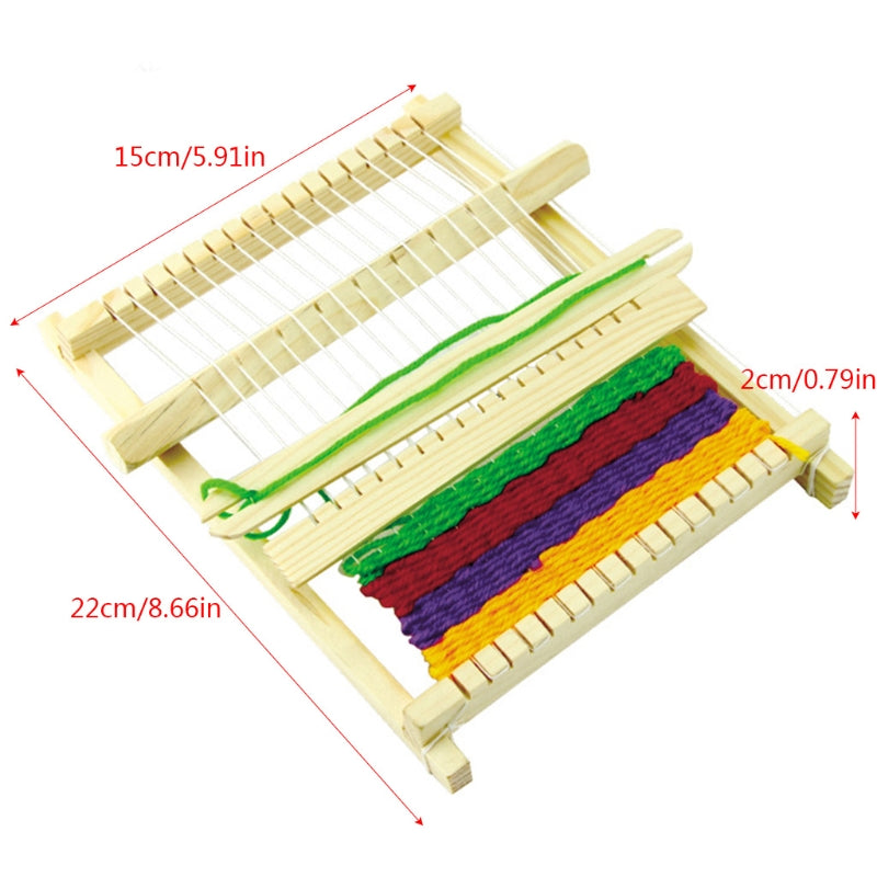 DIY Assembled Handloom Weaving Loom Science Technology Educational Children Toy
