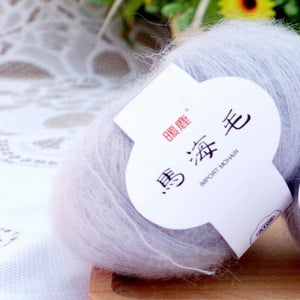 Soft Mohair Cashmere Knitting Wool Yarn DIY Shawl Scarf Crochet Thread Supplies
