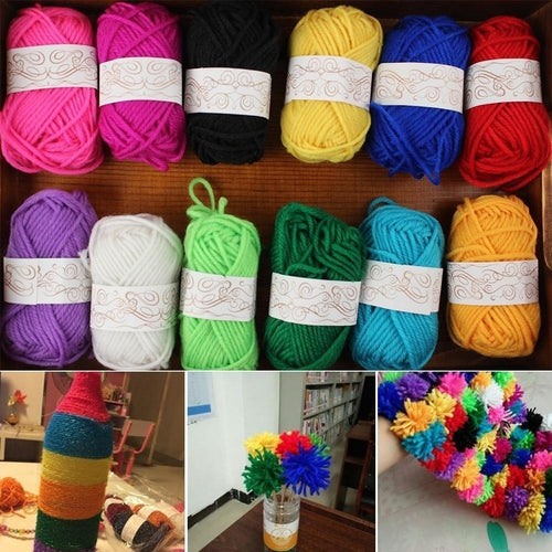 12pcs /full Set Woolen Yarn Diy Woven Thread Cotton Cloth Hand Knitting Yarn Crocheted Blanket Crochet Yarn