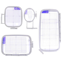 Load image into Gallery viewer, Multi Function Embroidery Machine Hoop Set Craft Cross Stitch Needlework Sewing Hoop Frame for Brother PC 6500 8200 8500