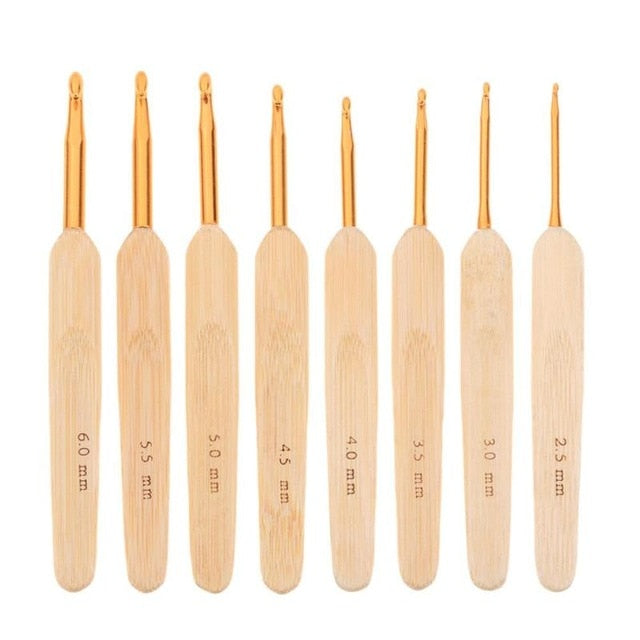 8pcs/set 2.5-6mm Plastic Craft Knit Crochet Hooks Knitting Needles Weave Craft For Sewing Kit Crafts Loom Tool Knitting Needles
