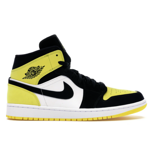 NIKE AIR JORDAN 1 MID YELLOW TOE BLACK