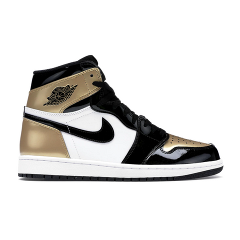 AIR JORDAN 1 RETRO HIGH NRG PATENT GOLD TOE