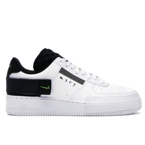 NIKE AIR FORCE 1 TYPE WHTIE BLACK VOLT