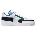 NIKE AIR FORCE 1 TYPE WHTIE OBSIDIAN