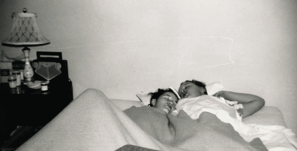 Photo of Pat and Terry cuddling from A Secret Love Lesbian Documentary