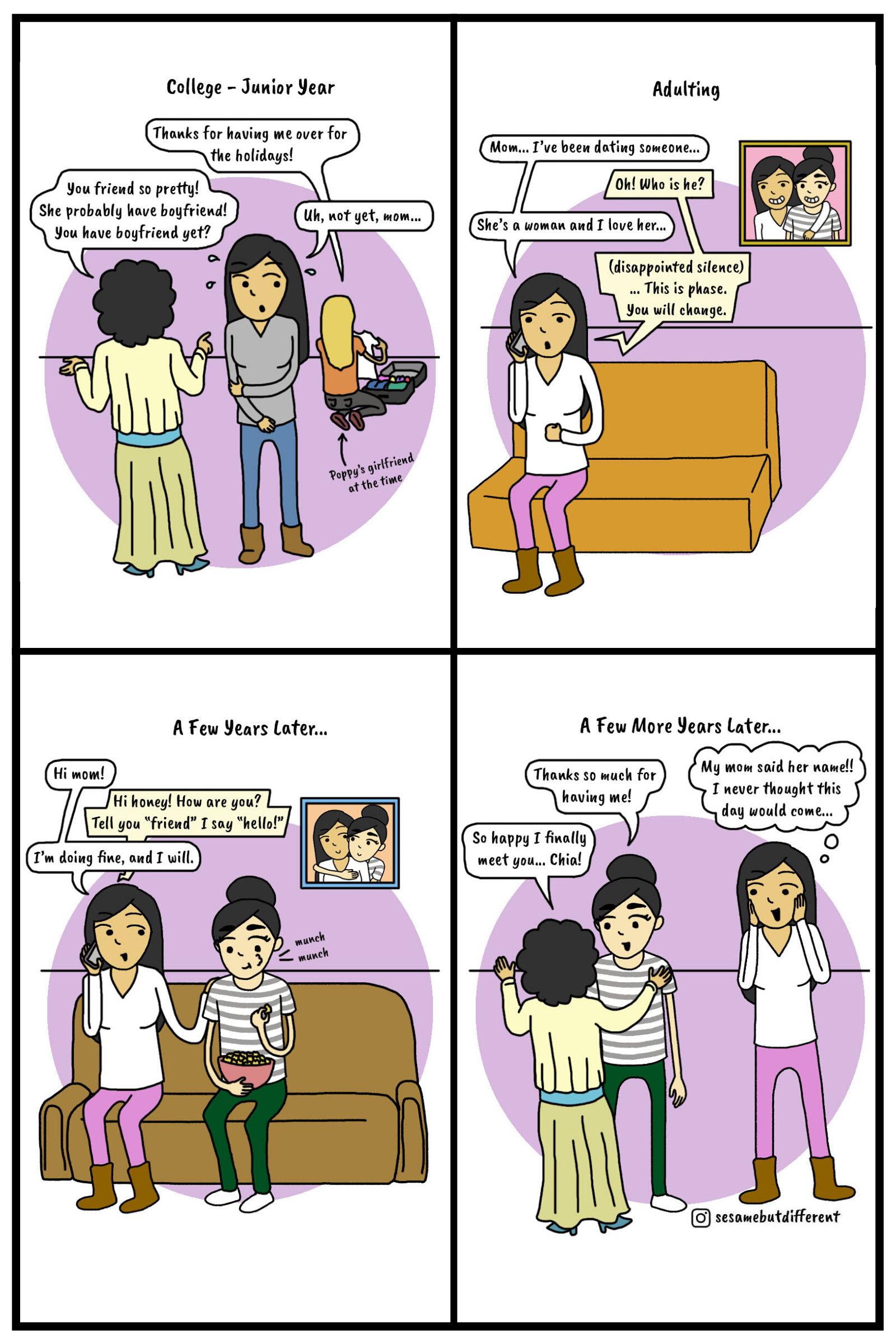 Sesame-But-Different-Coming-Out-Lesbian-Story-Part 2-Poppy's Story-Webcomic