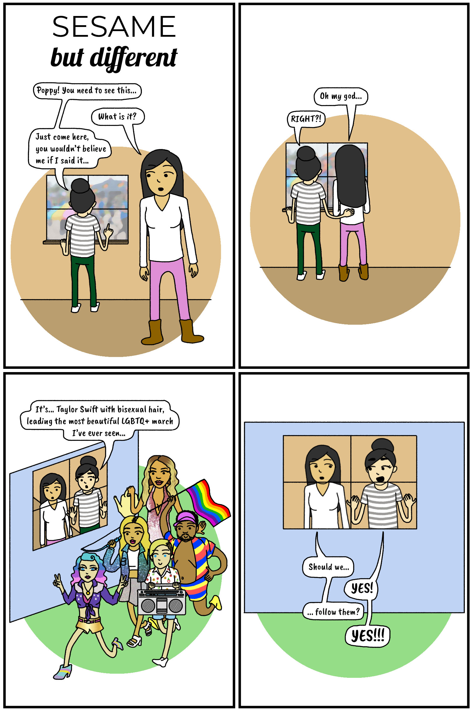 Sesame But Different Taylor Swift You Need to Calm Down Song Comic LGBTQ Pride