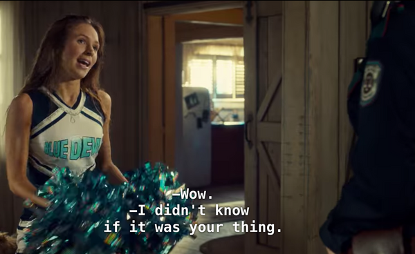 Cutest Wayhaught Cheerleading Scene