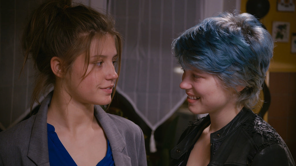 Emma and Adele Blue is the Warmest Color Lesbianship