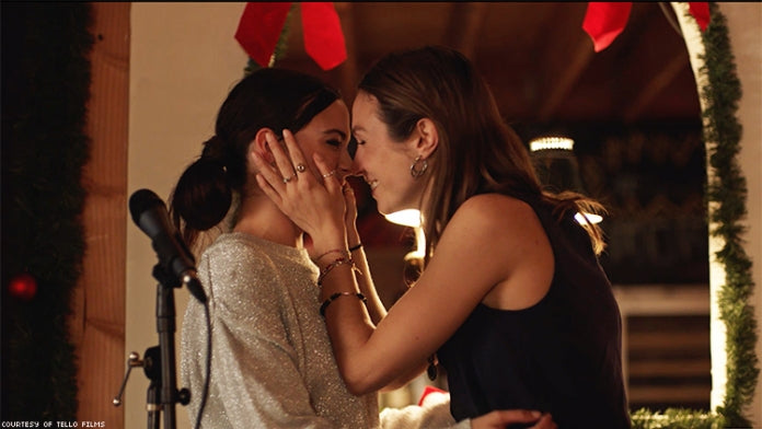 Janey and Sue kiss from Season of Love lesbian relationship