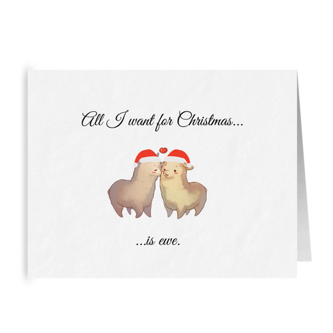 All I Want for Christmas is Ewe | Cute Punny Christmas Card | LGBTQ Holiday Gifts
