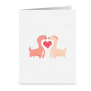 You Dino How Much I Love You | Cute Romantic Lesbian Greeting Card | LGBTQ Anniversary Gift