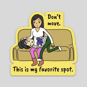 This is My Favorite Spot LGBT Sticker | Vinyl Laptop Sticker | Sesame But Different | Lesbian Comics