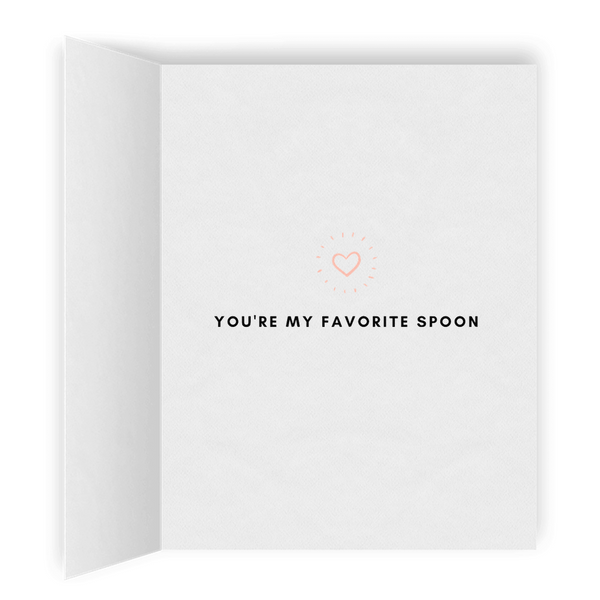 You're My Favorite Spoon | Romantic Lesbian Valentine's Day Card | Cute Lesbian Anniversary Gifts | Lesbian LGBTQ Greeting Card