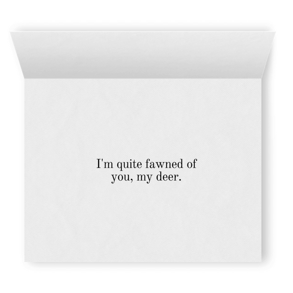 I'm Quite Fawned of You, My Deer | Cute Punny Christmas Card | Lesbian Holiday Greeting Cards