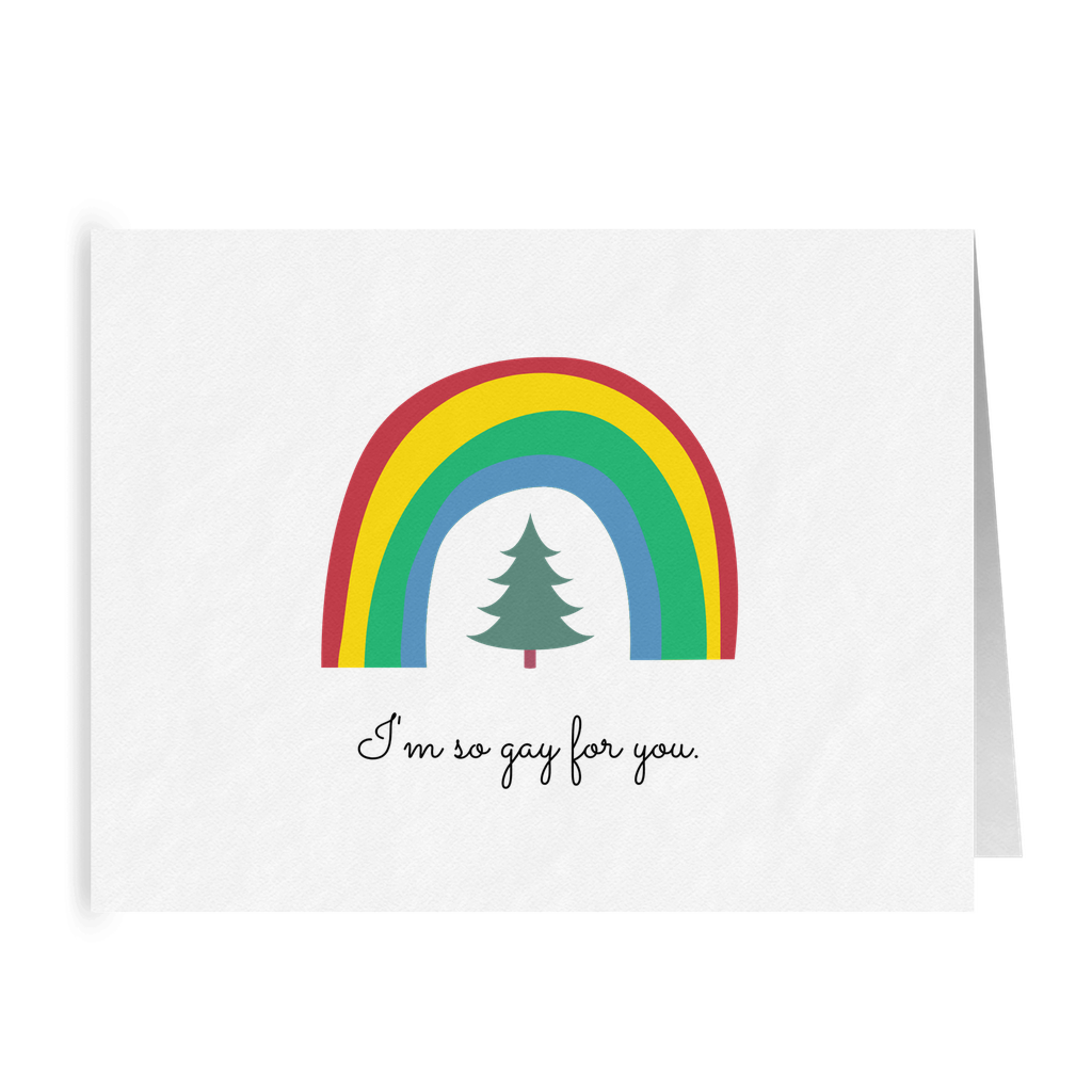 I'm so Gay for You | Punny LGBTQ Christmas Card | Lesbian Holiday Greeting Cards