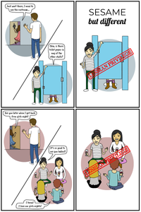 sesame but different lesbian privilege lgbt webcomic comic