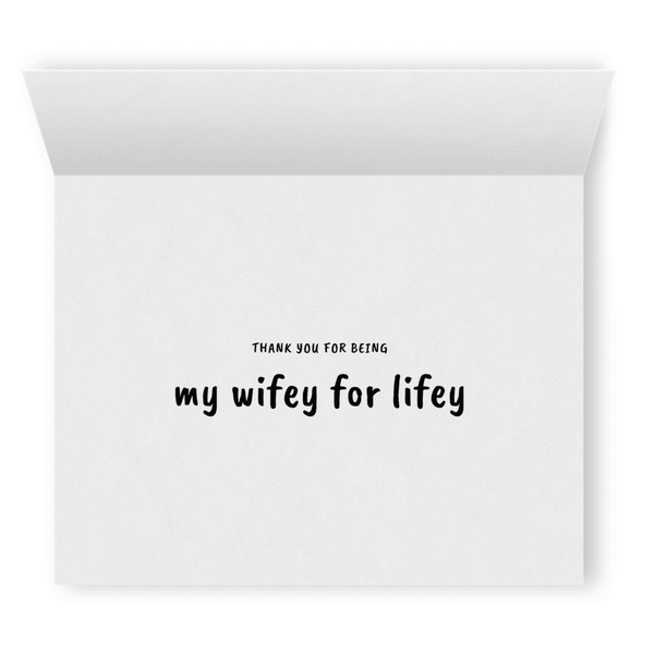 Wifey for Lifey | Cute Romantic Lesbian Greeting Card | Lesbian Wedding Anniversary Gift | LGBTQ Greeting Cards