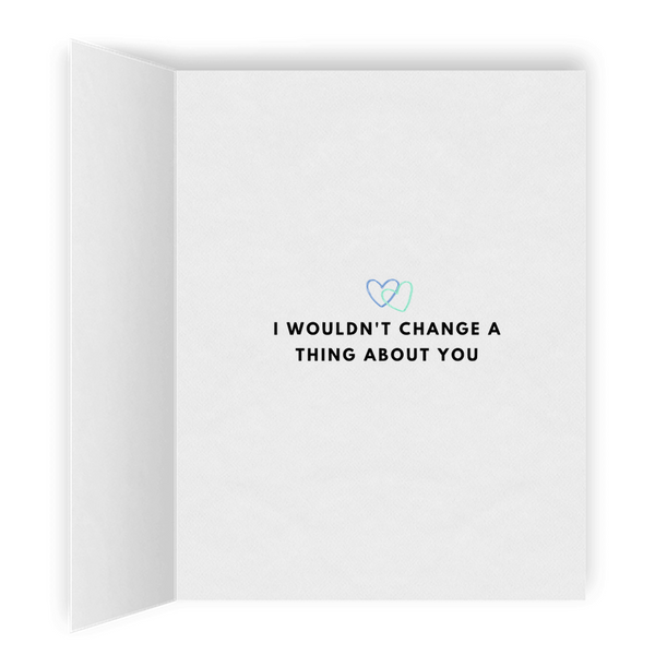 I Wouldn't Change a Thing About You | Romantic Lesbian Valentine's Day Card | Cute Lesbian Anniversary Gifts | Lesbian LGBTQ Greeting Card
