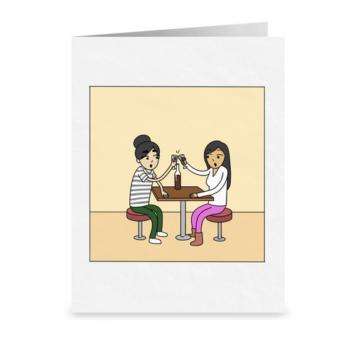 Forever With You | Romantic Lesbian Couple Card | Cute Lesbian Anniversary Gifts | LGBTQ Greeting Card