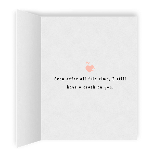 Crush On You | Romantic Lesbian Anniversary Cards & Gifts | LGBTQ Greeting Cards