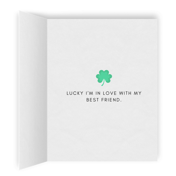 Lucky I'm In Love With My Best Friend | Romantic Lesbian St. Patrick's Day Card | Cute Lesbian Anniversary Gifts | LGBTQ Greeting Card