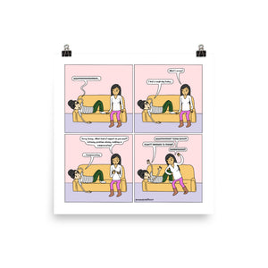 Girlfriend Support Menu | Cute Lesbian Relationship | Pride Gifts | LGBTQ Comic Print
