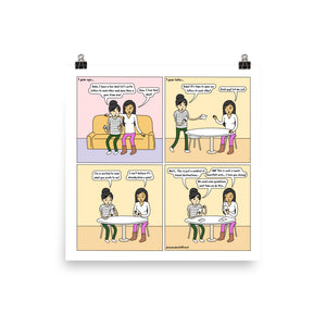Time Capsule | Cute Lesbian Relationship | Pride Gifts | LGBTQ Comic Print