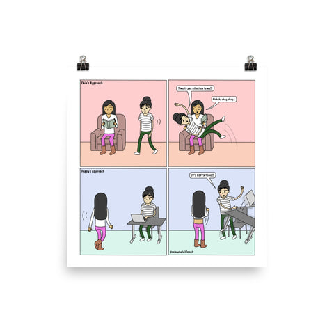 Getting Attention | Cute Lesbian Relationship | Pride Gifts | LGBTQ Comic Print