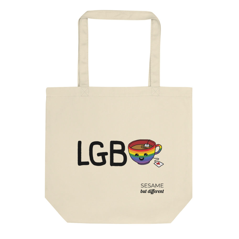 Punny LGB-Tea Eco-friendly Cotton Tote Bag | Gay Lesbian Pride | LGBTQ