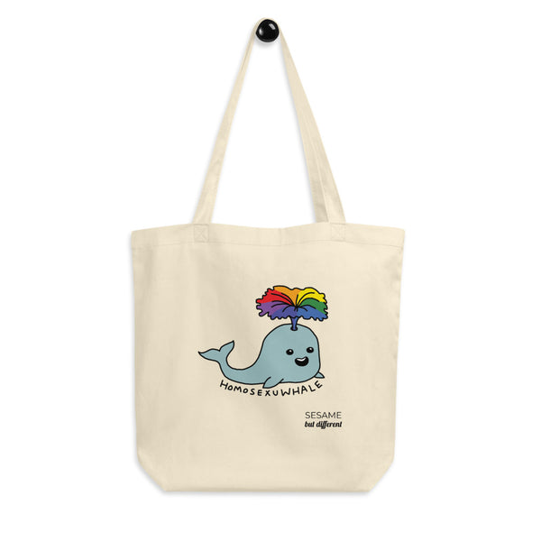 Punny LGBT Homosexu-Whale Eco-friendly Cotton Tote Bag | Gay Pride | LGBTQ