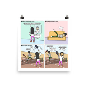 Competitive Sports | Cute Lesbian Relationship | Pride Gifts | LGBTQ Comic Print
