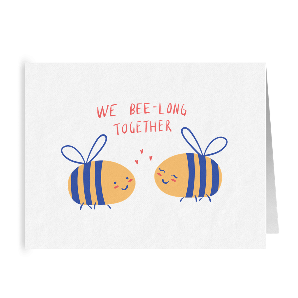 We Bee-long Together | Romantic Lesbian Valentine's Day Card | Cute Lesbian Anniversary Gifts | Lesbian LGBTQ Greeting Card