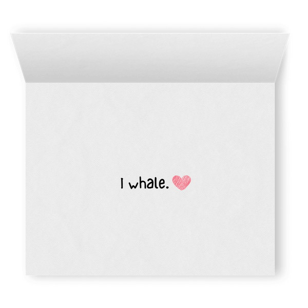 Whale You Be Mine? | Romantic Lesbian Valentine's Day Card | Cute Lesbian Anniversary Gifts | Lesbian LGBTQ Greeting Card