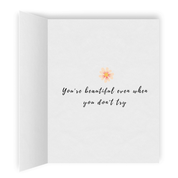 You're Beautiful | Romantic Lesbian Couple Card | Cute Lesbian Anniversary Gifts | LGBTQ Greeting Card