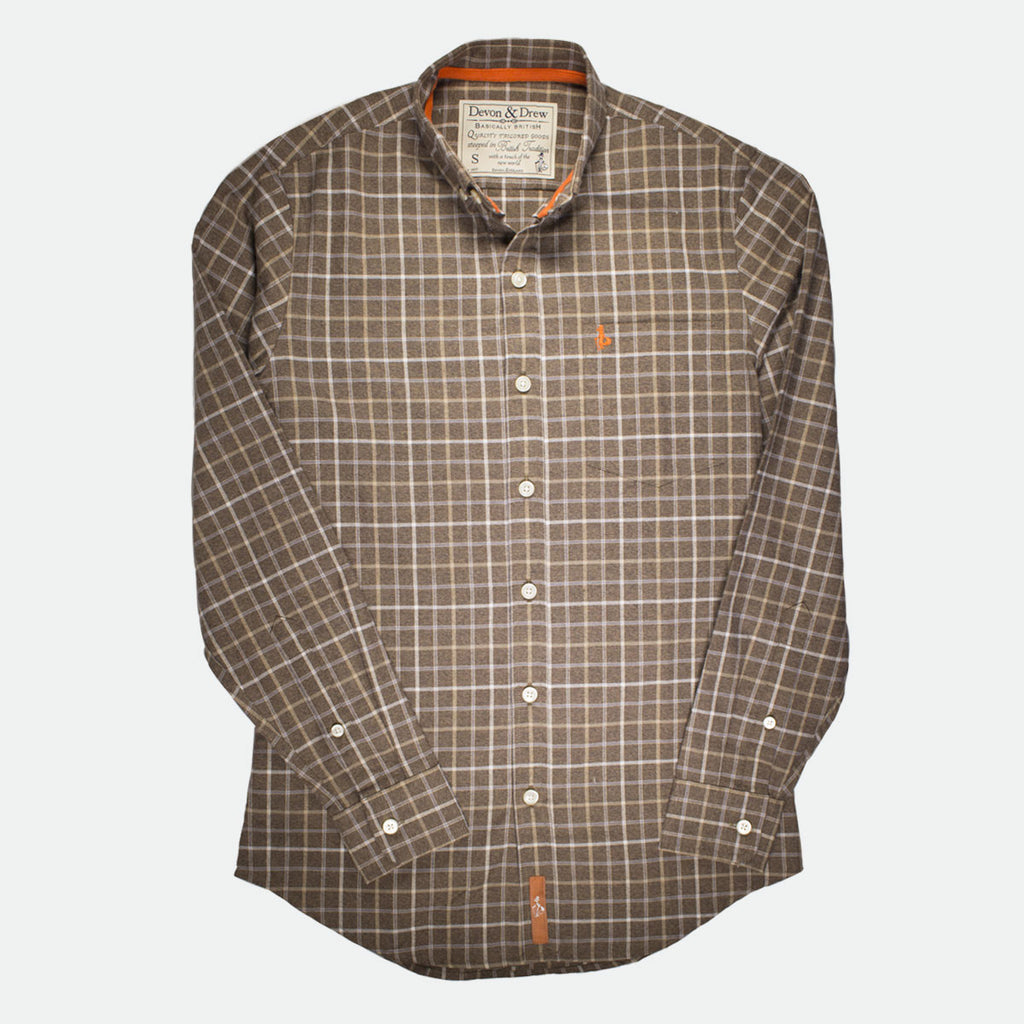 Richmond Classic Brown Plaid Flannel Shirt