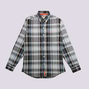 Richmond Classic Grey Plaid Flannel Shirt
