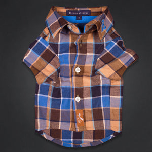 Richmond Classic Burnt Orange Flannel Dog Shirt