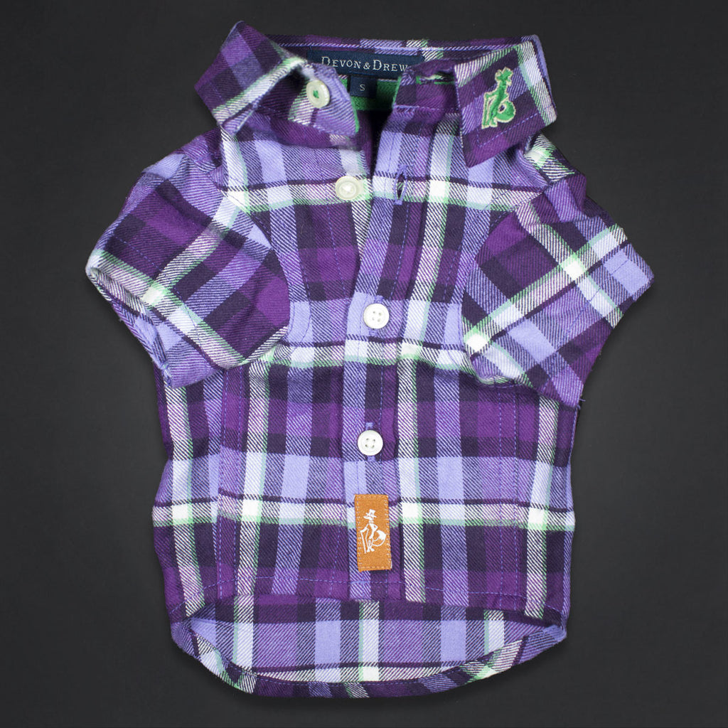 Richmond Classic Purple Flannel Dog Shirt