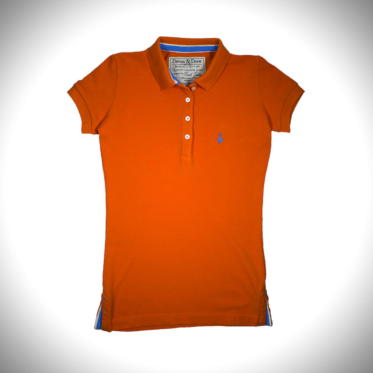 Womens polo shirt devon drew basically british westminster skinny stretch polo shirt geenschuldenfo Image collections