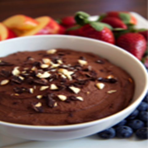 100-Calorie Chocolate Almond Fruit Dip (and It's Vegan!)