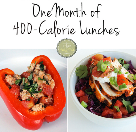 1-month Lunch Challenge under 400 calories