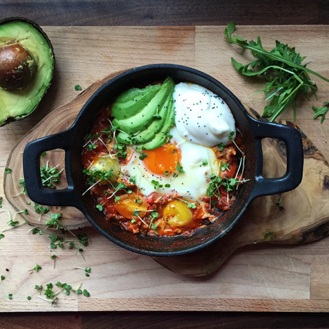 Shakshuka (Baked Eggs in Tomato & Chilli Sauce)