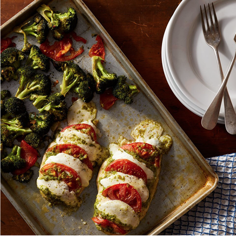 New! Hasselback Caprese Chicken